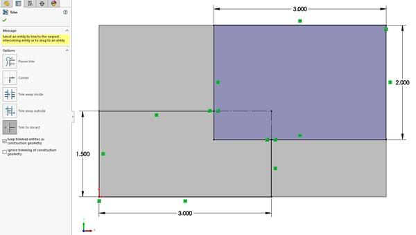 Converting trim entities to construction geometries