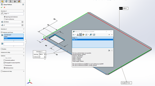 Measure Tool in SOLIDWORKS