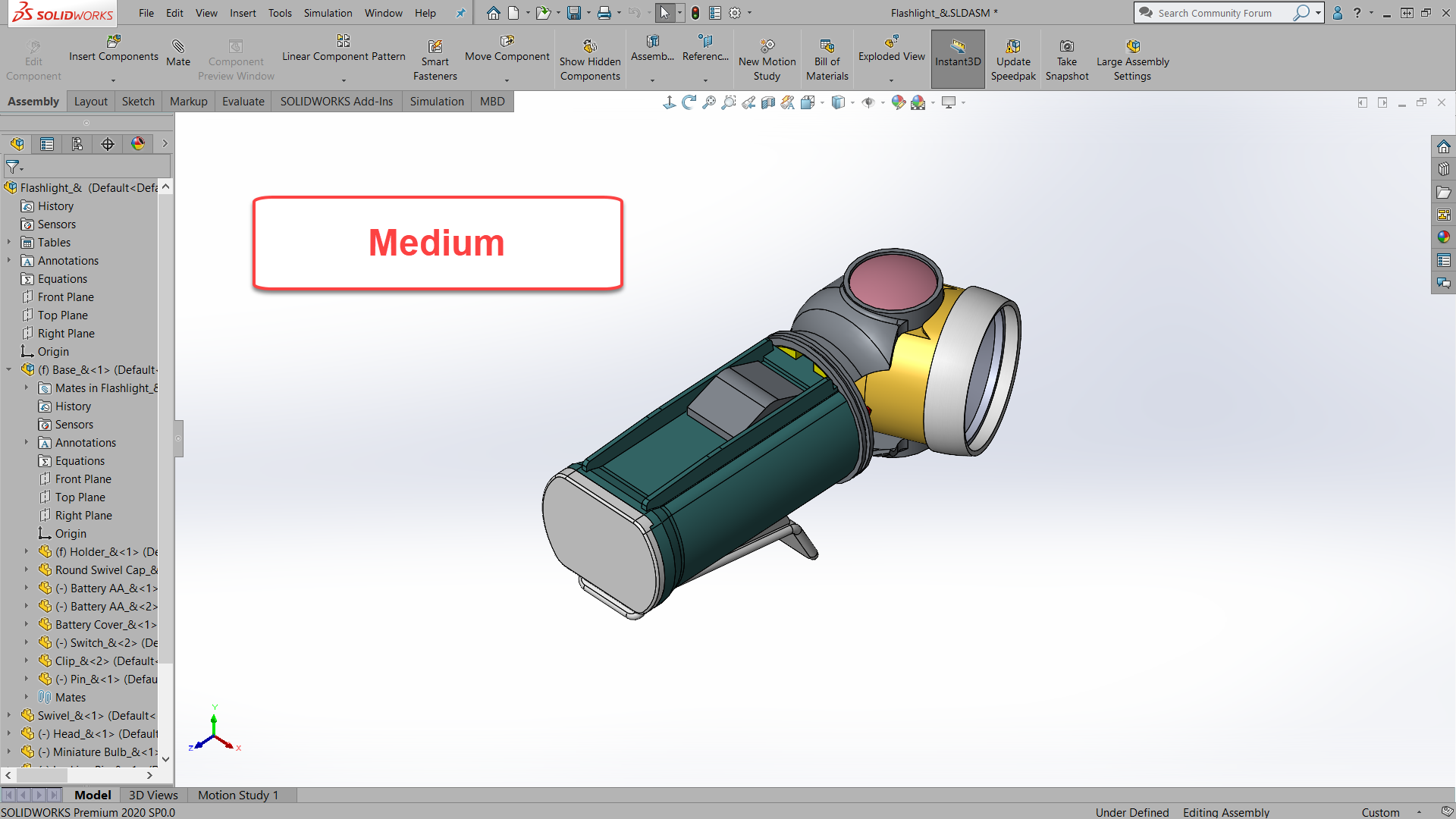 SOLIDWORKS Medium Background