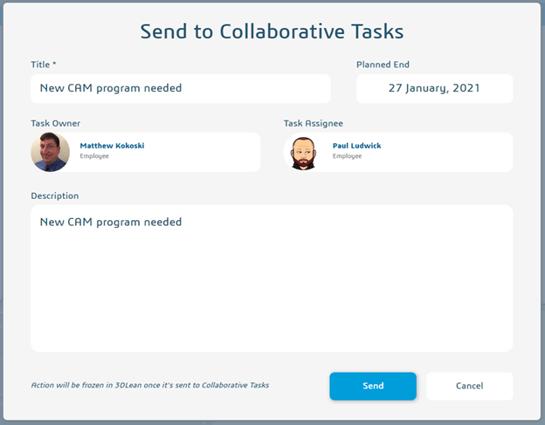 SOLIDWORKS Task Creation
