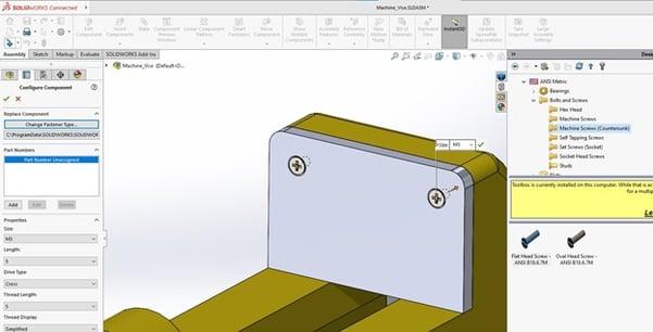 SOLIDWORKS Toolbox Integration