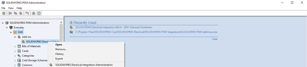 SOLIDWORKS PDM Administrator