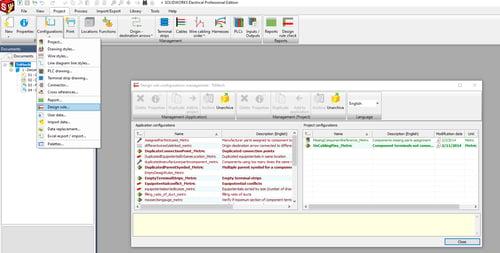 Design Rule Check Configuration Setup