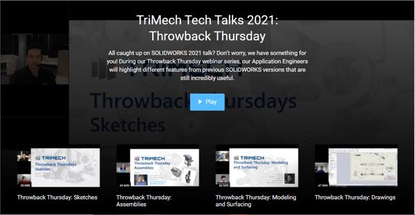 TriMech Tech Talks 2021: Throwback Thursday Webinars