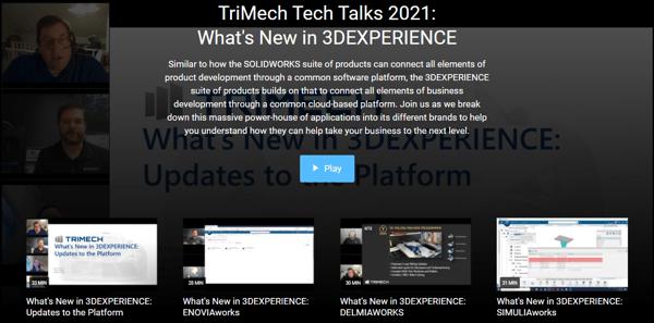 TriMech Tech Talks 2021: What's New in 3DEXPERIENCE Webinars