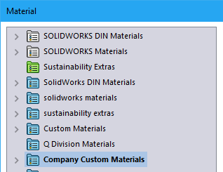 New SOLIDWORKS Material Database