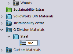 Change Name of Material in SOLIDWORKS