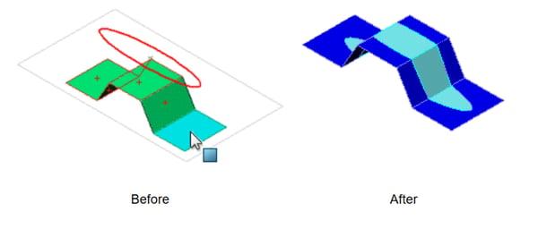 SOLIDWORKS Split Line Projections