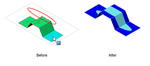 SOLIDWORKS Split Line Projections