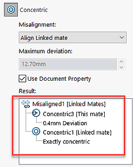 Misaligned Mates in SOLIDWORKS