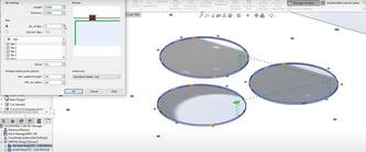 Tab cutting for large circular holes