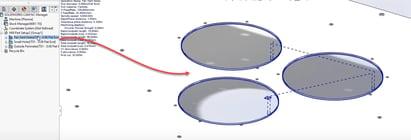 SOLIDWORKS CAM Tab Cutting for Circular Holes
