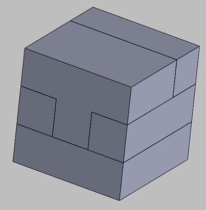 Cube puzzle design in SOLIDWORKS