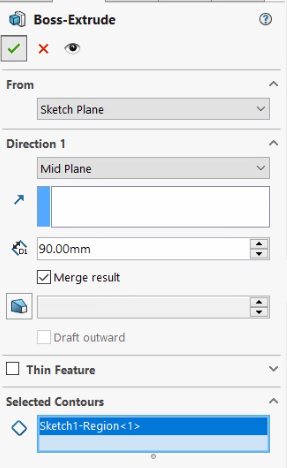 Merge option in SOLIDWORKS