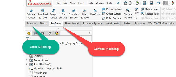 Surface Tool in SOLIDWORKS
