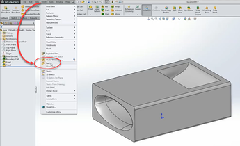 Inserting a part into a part in SOLIDWORKS