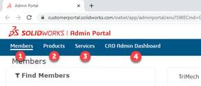 SW Admin portal 2