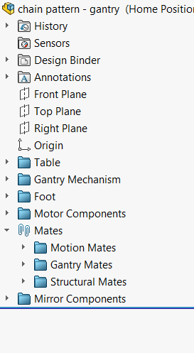 File options in SOLIDWORKS Feature Tree
