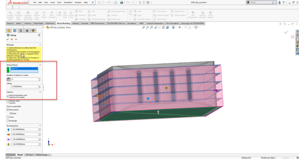 Slicing Tool in SOLIDWORKS