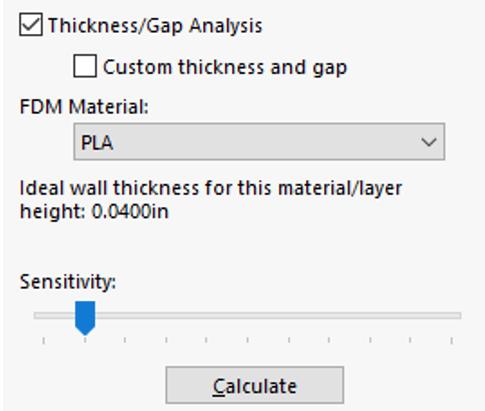 Thickness/Gap Analysis