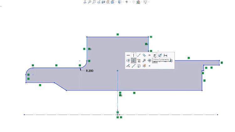 SOLIDWORKS Symmetry Relations