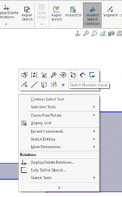 SOLIDWORKS sketch-numeric-input