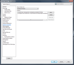 File locations are controlled in Systems Options
