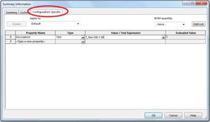 Configuration Specific tab