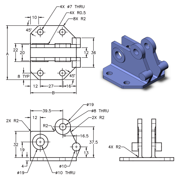 Practice sketching in SOLIDWORKS for your CSMA exam