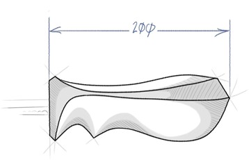 Sketch of the proposed handle design