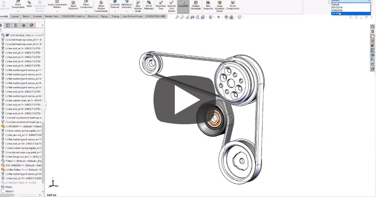 Image of Assembling Belts and Chains in SOLIDWORKS