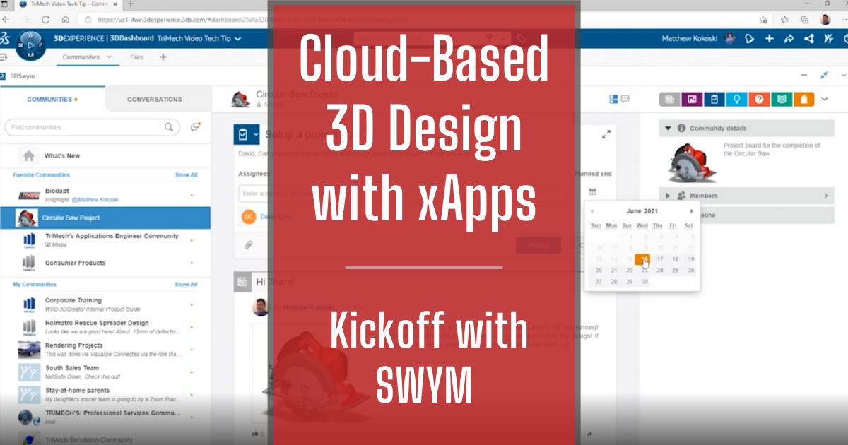 Cloud-Based 3D Design with xApps - Part 1: Kickoff with SWYM