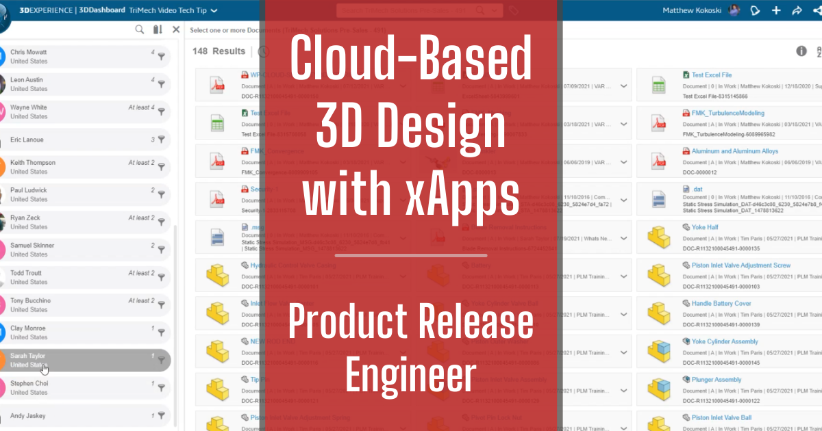 Cloud-Based 3D Design with xApps - Part 10: Product Release Engineer