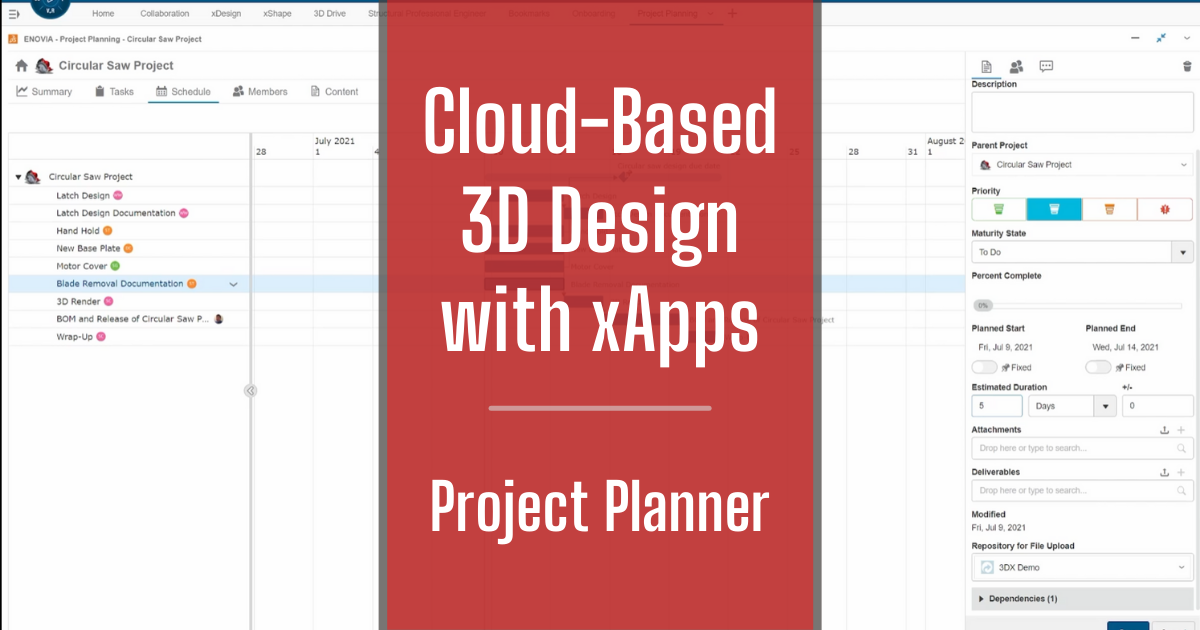 Cloud-Based 3D Design with xApps - Part 2: Project Planner