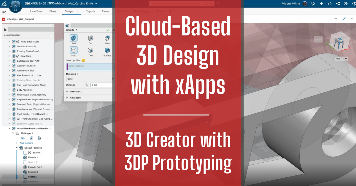 Cloud-Based 3D Design with xApps - Part 3: 3D Creator with 3DP Prototyping