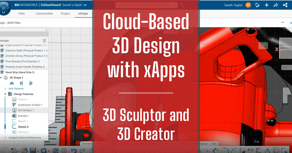Cloud-Based 3D Design with xApps - Part 4: 3D Sculptor and 3D Creator