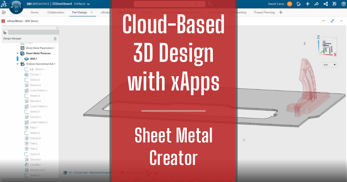 Cloud-Based 3D Design with xApps - Part 5: Sheet Metal Creator