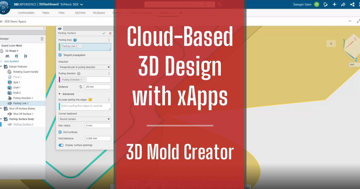 Cloud-Based 3D Design with xApps - Part 6: 3D Mold Creator