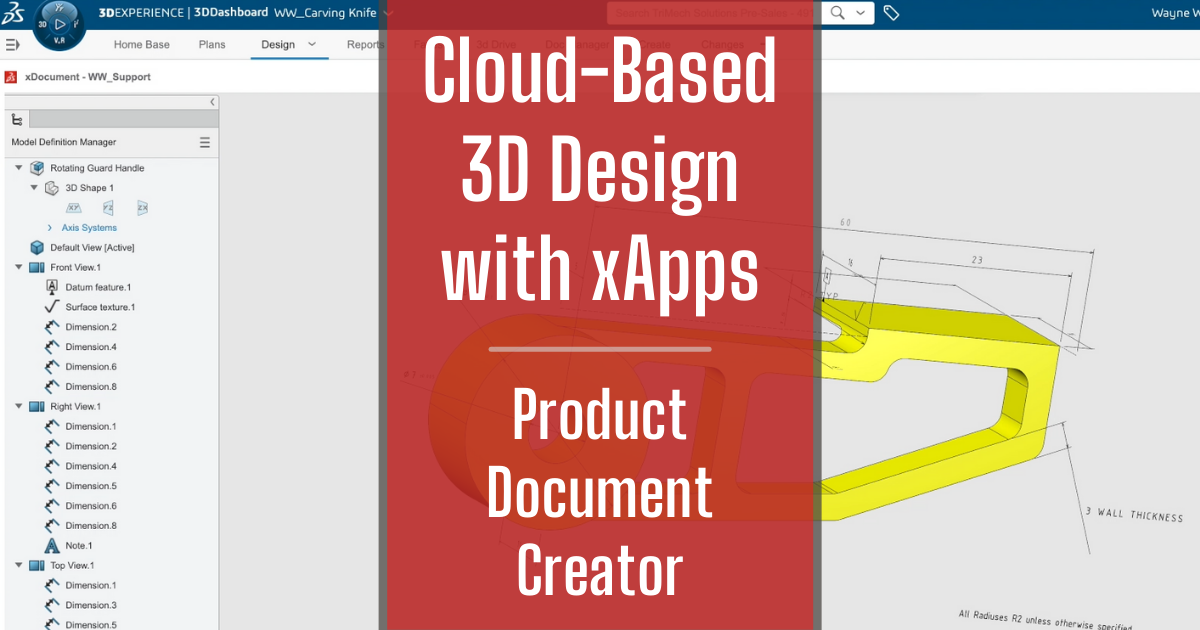 Cloud-Based 3D Design with xApps - Part 7: Product Document Creator