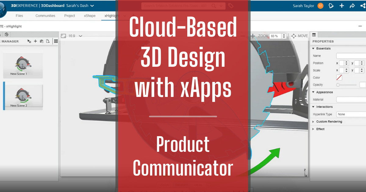Cloud-Based 3D Design with xApps - Part 8: Product Communicator