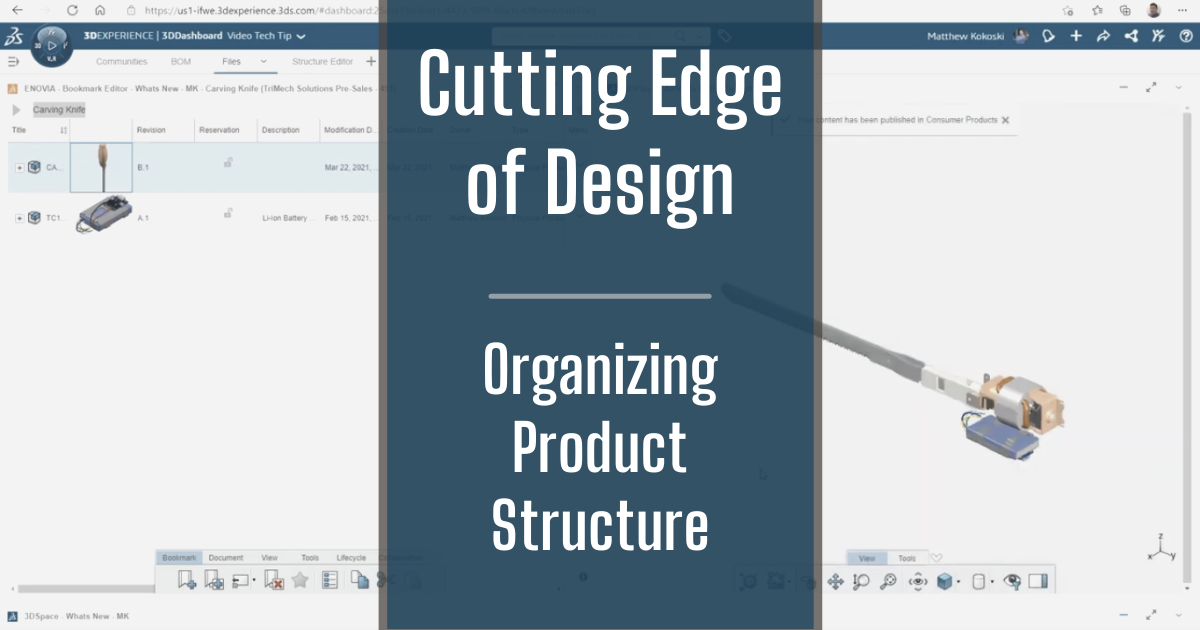 The Cutting Edge of Design - Part 2: Organizing a Product Structure