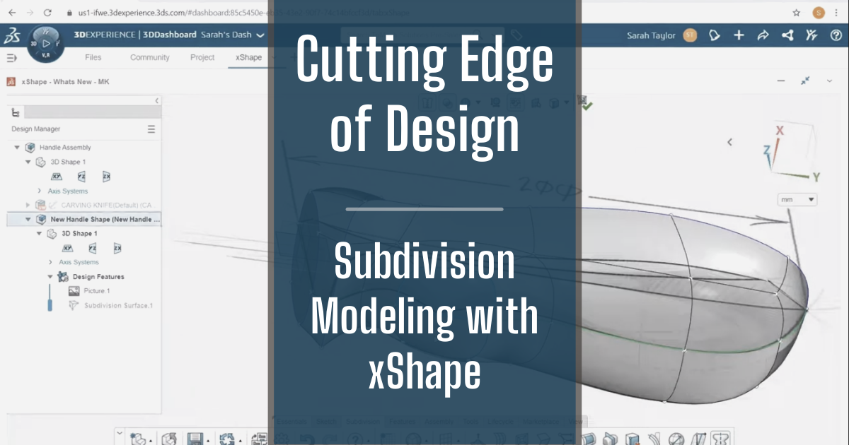 The Cutting Edge of Design - Part 4: Subdivision Modeling with xShape