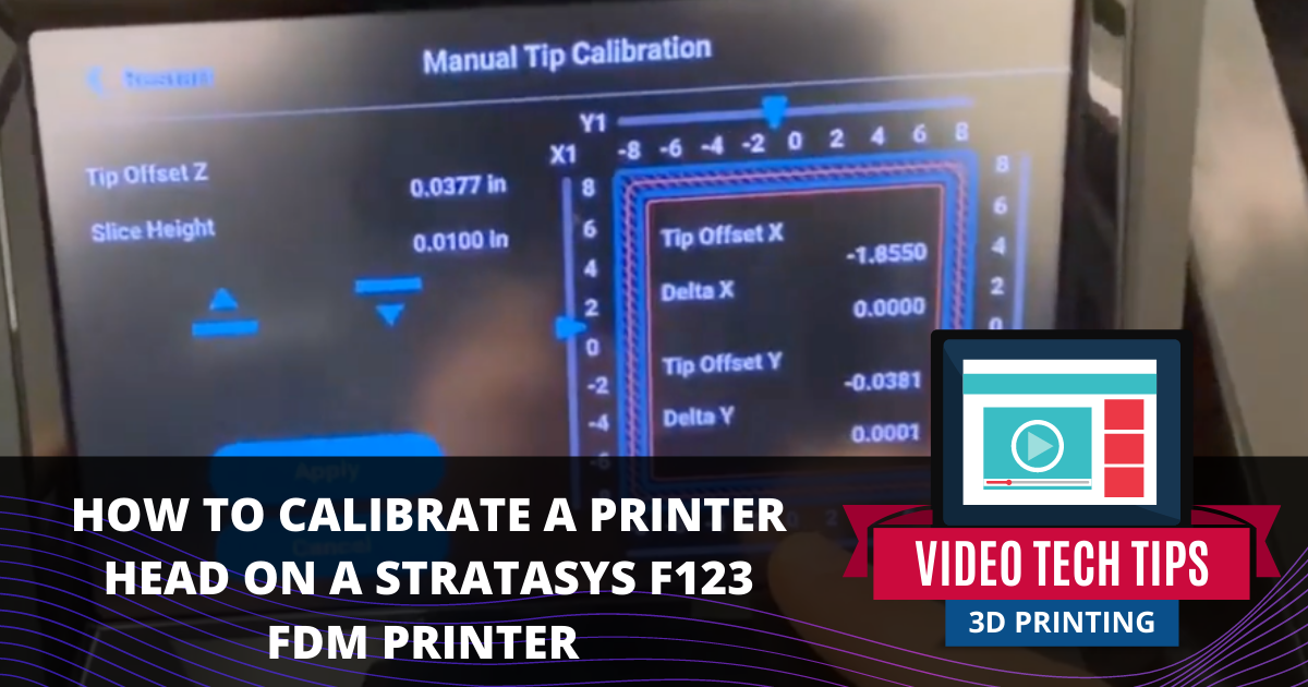 Calibrating a Printer Head on a Stratasys F123 Series FDM Printer