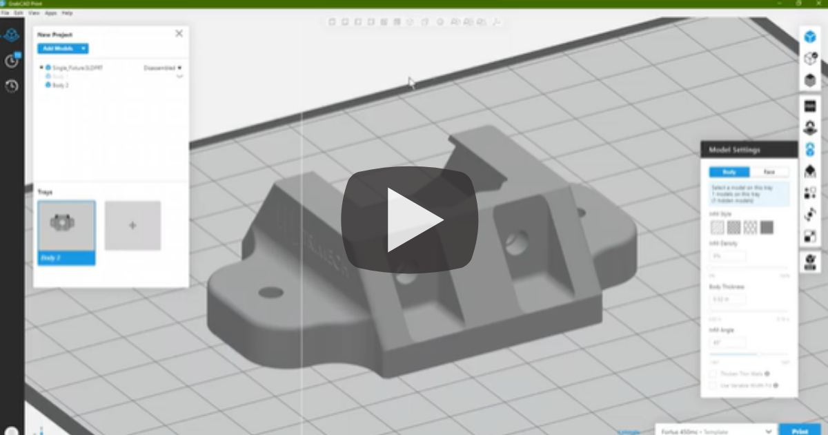 Changing Hole Sizes in GrabCAD Print