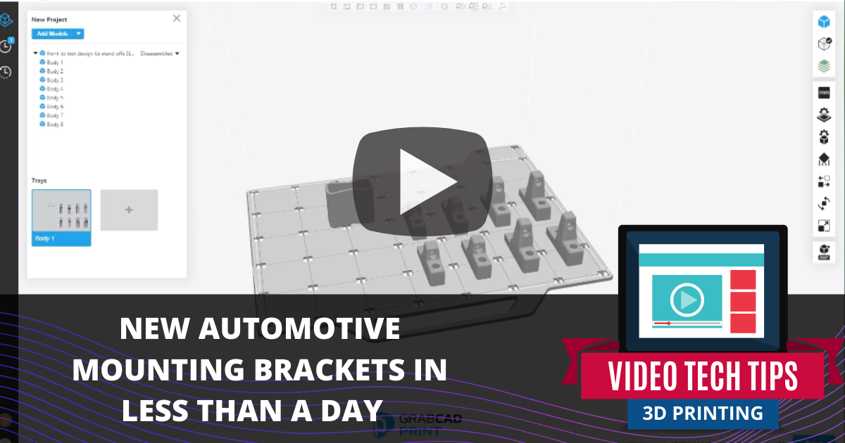 New Automotive Mounting Brackets in Less Than a Day