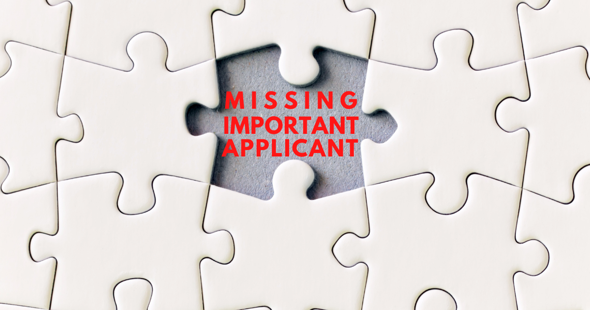 MIA: Missing Important Applicant