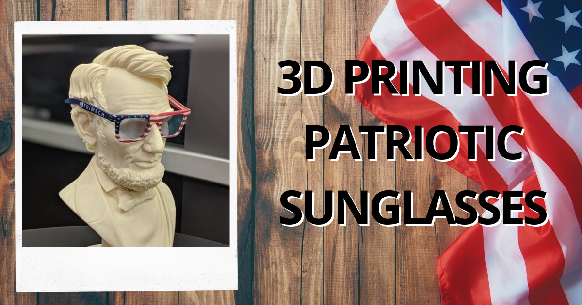3D Printing Patriotic Sunglasses With the Stratasys J750 and VeroFlexVivid