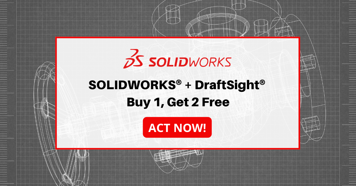 Image of Buy SOLIDWORKS and Get Two Seats of DraftSight Enterprise