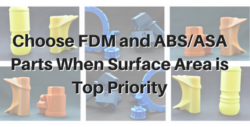 Choose FDM and ABS/ASA Parts When Surface Finish is Top Priority