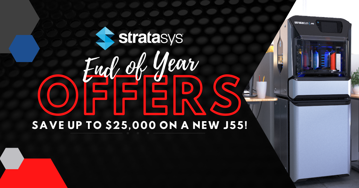 Image of Stratasys End of Year Offers: Save Up to $25,000 on a New J55!